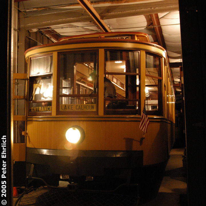 (209k, 720x720)<br><b>Country:</b> United States<br><b>City:</b> Minneapolis, MN<br><b>System:</b> Minnesota Streetcar Museum <br><b>Line:</b> Como-Harriet Line<br><b>Car:</b>  1300 <br><b>Photo by:</b> Peter Ehrlich<br><b>Date:</b> 8/27/2005<br><b>Notes:</b> Twin Cities Standard car 1300 at the Carbarn.<br><b>Viewed (this week/total):</b> 0 / 1385
