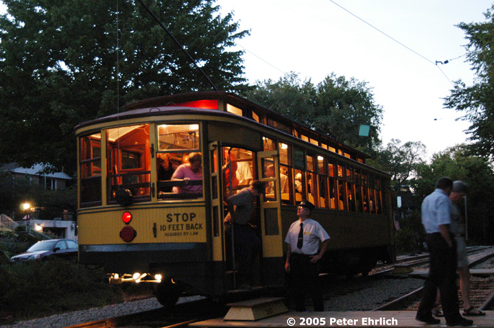 (168k, 720x478)<br><b>Country:</b> United States<br><b>City:</b> Minneapolis, MN<br><b>System:</b> Minnesota Streetcar Museum <br><b>Line:</b> Como-Harriet Line<br><b>Car:</b>  1300 <br><b>Photo by:</b> Peter Ehrlich<br><b>Date:</b> 8/27/2005<br><b>Notes:</b> At Linden Hills outbound.<br><b>Viewed (this week/total):</b> 4 / 1538