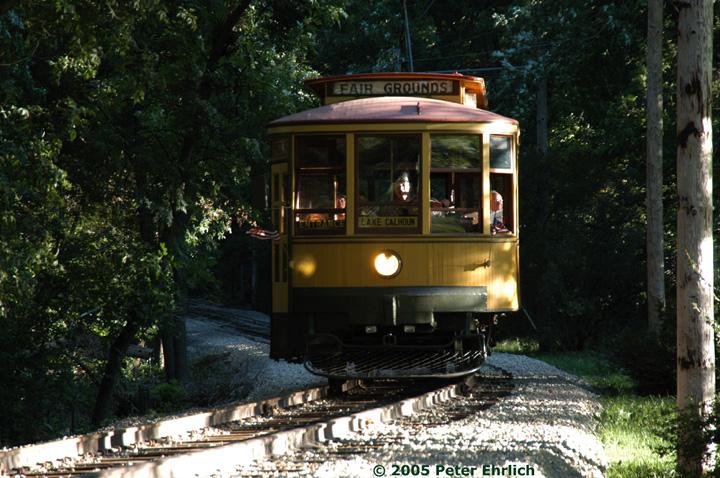 (192k, 720x478)<br><b>Country:</b> United States<br><b>City:</b> Minneapolis, MN<br><b>System:</b> Minnesota Streetcar Museum <br><b>Line:</b> Como-Harriet Line<br><b>Car:</b>  1300 <br><b>Photo by:</b> Peter Ehrlich<br><b>Date:</b> 8/27/2005<br><b>Notes:</b> North of Cottage City.<br><b>Viewed (this week/total):</b> 1 / 1323