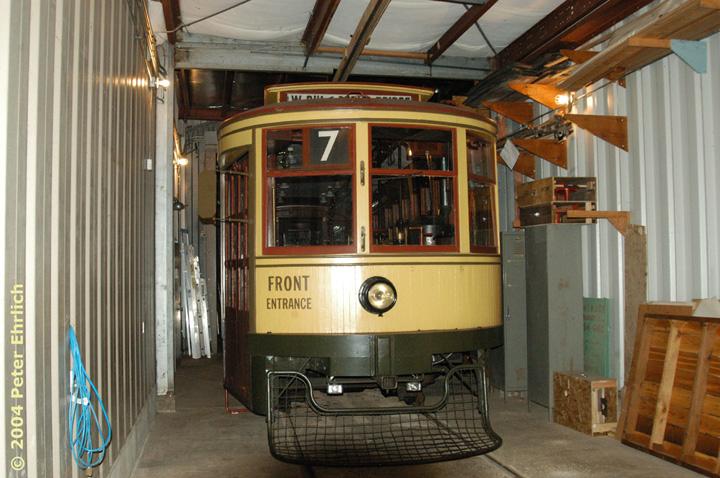 (165k, 720x478)<br><b>Country:</b> United States<br><b>City:</b> Minneapolis, MN<br><b>System:</b> Minnesota Streetcar Museum <br><b>Line:</b> Como-Harriet Line<br><b>Car:</b>  265 <br><b>Photo by:</b> Peter Ehrlich<br><b>Date:</b> 8/1/2004<br><b>Notes:</b> Duluth 265 in the Carbarn.<br><b>Viewed (this week/total):</b> 2 / 1274
