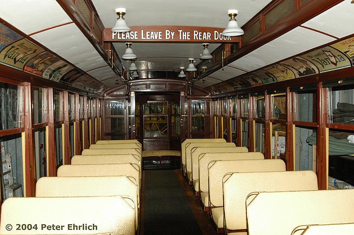 (188k, 720x478)<br><b>Country:</b> United States<br><b>City:</b> Minneapolis, MN<br><b>System:</b> Minnesota Streetcar Museum <br><b>Line:</b> Como-Harriet Line<br><b>Car:</b>  265 <br><b>Photo by:</b> Peter Ehrlich<br><b>Date:</b> 8/1/2004<br><b>Notes:</b> Duluth 265 in the Carbarn.<br><b>Viewed (this week/total):</b> 3 / 1317