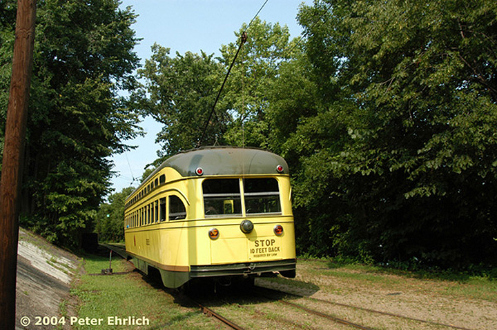 (223k, 720x479)<br><b>Country:</b> United States<br><b>City:</b> Minneapolis, MN<br><b>System:</b> Minnesota Streetcar Museum <br><b>Line:</b> Como-Harriet Line<br><b>Car:</b>  322 <br><b>Photo by:</b> Peter Ehrlich<br><b>Date:</b> 8/1/2004<br><b>Notes:</b> PCC 322 at Carbarn.<br><b>Viewed (this week/total):</b> 2 / 1470