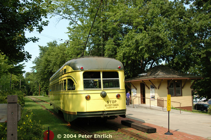 (236k, 720x478)<br><b>Country:</b> United States<br><b>City:</b> Minneapolis, MN<br><b>System:</b> Minnesota Streetcar Museum <br><b>Line:</b> Como-Harriet Line<br><b>Car:</b>  322 <br><b>Photo by:</b> Peter Ehrlich<br><b>Date:</b> 8/1/2004<br><b>Notes:</b> At Linden Hills outbound.<br><b>Viewed (this week/total):</b> 0 / 1416