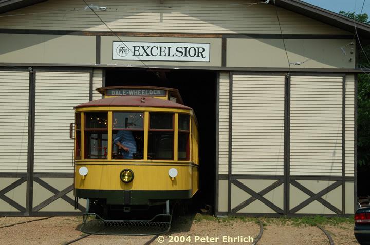 (139k, 720x478)<br><b>Country:</b> United States<br><b>City:</b> Minneapolis, MN<br><b>System:</b> Minnesota Streetcar Museum <br><b>Line:</b> Excelsior Line<br><b>Car:</b>  1239 <br><b>Photo by:</b> Peter Ehrlich<br><b>Date:</b> 8/1/2004<br><b>Notes:</b> 1239 backing into the barn.<br><b>Viewed (this week/total):</b> 0 / 1328