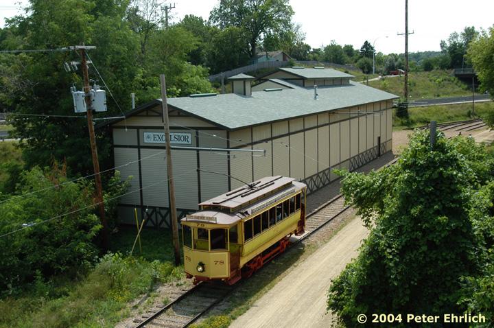 (199k, 720x478)<br><b>Country:</b> United States<br><b>City:</b> Minneapolis, MN<br><b>System:</b> Minnesota Streetcar Museum <br><b>Line:</b> Excelsior Line<br><b>Car:</b>  78 <br><b>Photo by:</b> Peter Ehrlich<br><b>Date:</b> 8/1/2004<br><b>Notes:</b> 78 near 2nd Street overpass.<br><b>Viewed (this week/total):</b> 0 / 1251