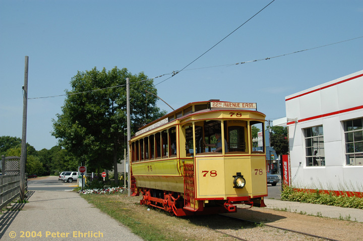 (146k, 720x478)<br><b>Country:</b> United States<br><b>City:</b> Minneapolis, MN<br><b>System:</b> Minnesota Streetcar Museum <br><b>Line:</b> Excelsior Line<br><b>Car:</b>  78 <br><b>Photo by:</b> Peter Ehrlich<br><b>Date:</b> 8/1/2004<br><b>Notes:</b> Duluth 78 at Water Street, west end of line.<br><b>Viewed (this week/total):</b> 0 / 1325