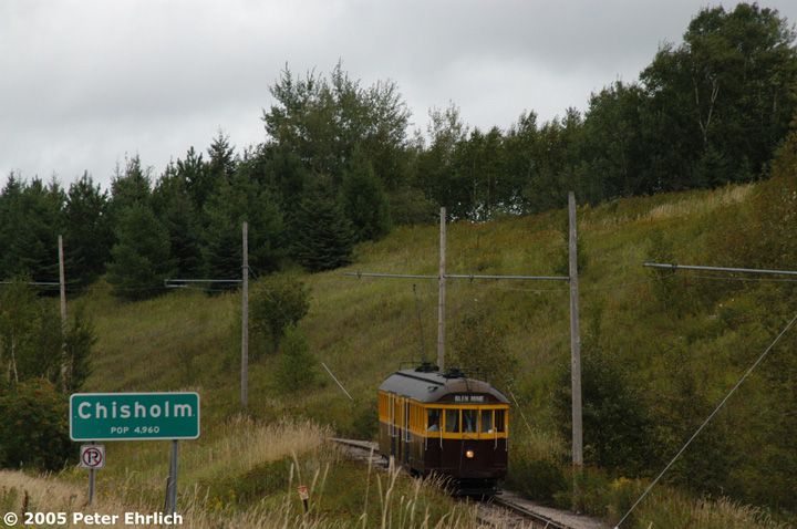 (150k, 720x478)<br><b>Country:</b> United States<br><b>City:</b> Chisholm, MN<br><b>System:</b> Ironworld<br><b>Car:</b> Melbourne W2 Class (1923-1931)  601 <br><b>Photo by:</b> Peter Ehrlich<br><b>Date:</b> 8/29/2005<br><b>Notes:</b> Approaching Pillsbury Station (not in use) outbound.<br><b>Viewed (this week/total):</b> 0 / 1491