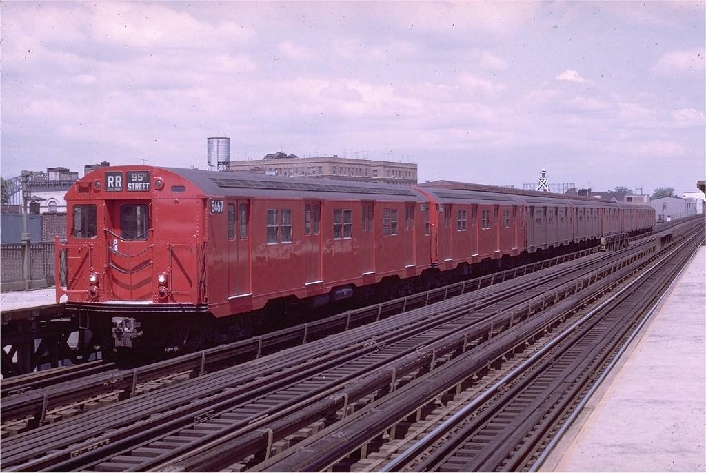 (207k, 1024x686)<br><b>Country:</b> United States<br><b>City:</b> New York<br><b>System:</b> New York City Transit<br><b>Line:</b> BMT Astoria Line<br><b>Location:</b> 30th/Grand Aves. <br><b>Route:</b> RR<br><b>Car:</b> R-30 (St. Louis, 1961) 8467 <br><b>Photo by:</b> Doug Grotjahn<br><b>Collection of:</b> Joe Testagrose<br><b>Date:</b> 5/11/1969<br><b>Viewed (this week/total):</b> 1 / 2835