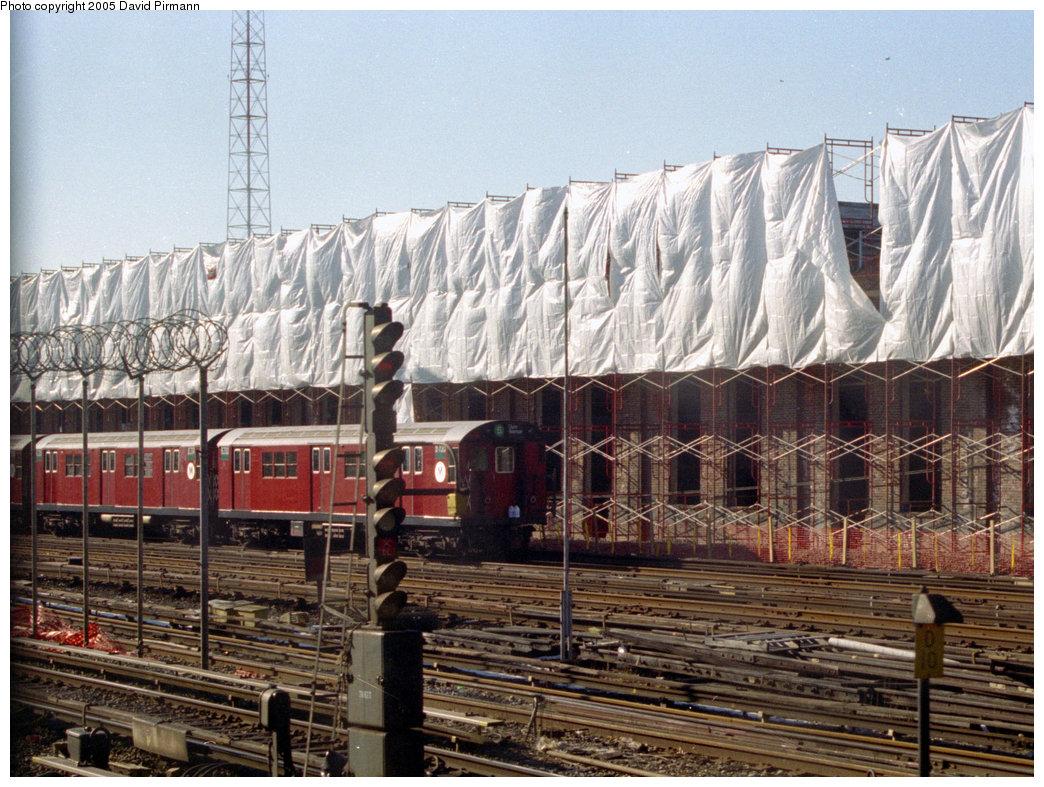 (275k, 1044x787)<br><b>Country:</b> United States<br><b>City:</b> New York<br><b>System:</b> New York City Transit<br><b>Location:</b> East 180th Street Yard<br><b>Car:</b> R-29 (St. Louis, 1962) 8700 <br><b>Photo by:</b> David Pirmann<br><b>Date:</b> 12/16/1995<br><b>Viewed (this week/total):</b> 0 / 3200