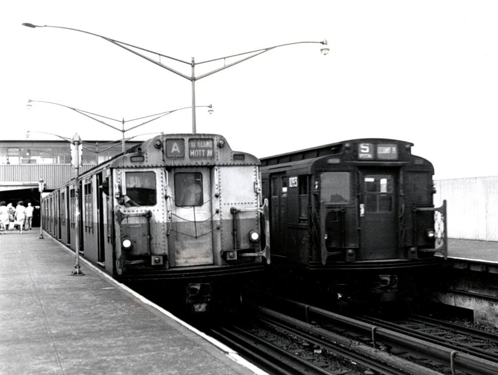(135k, 1024x773)<br><b>Country:</b> United States<br><b>City:</b> New York<br><b>System:</b> New York City Transit<br><b>Line:</b> IND Rockaway<br><b>Location:</b> Broad Channel <br><b>Route:</b> A<br><b>Car:</b> R-10 (American Car & Foundry, 1948)  <br><b>Collection of:</b> George Conrad Collection<br><b>Date:</b> 8/9/1969<br><b>Viewed (this week/total):</b> 5 / 2002