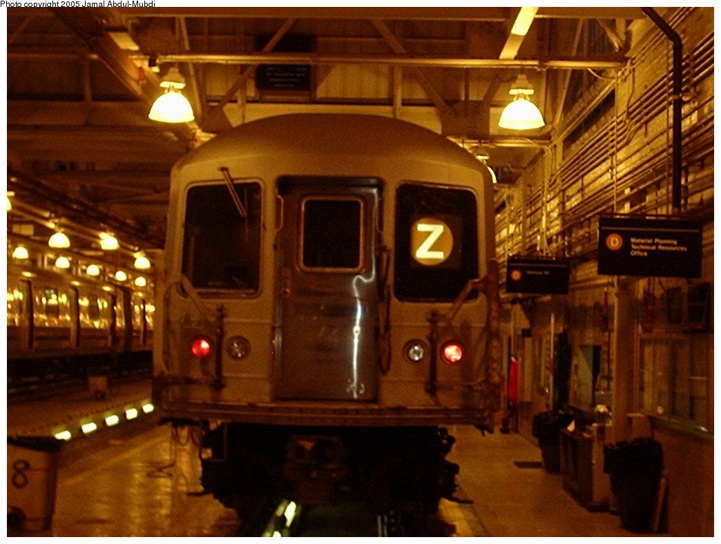 (166k, 1044x788)<br><b>Country:</b> United States<br><b>City:</b> New York<br><b>System:</b> New York City Transit<br><b>Location:</b> Concourse Yard<br><b>Car:</b> R-42 (St. Louis, 1969-1970)   <br><b>Photo by:</b> Jamal Abdul-Mubdi<br><b>Date:</b> 10/22/2005<br><b>Viewed (this week/total):</b> 6 / 3326