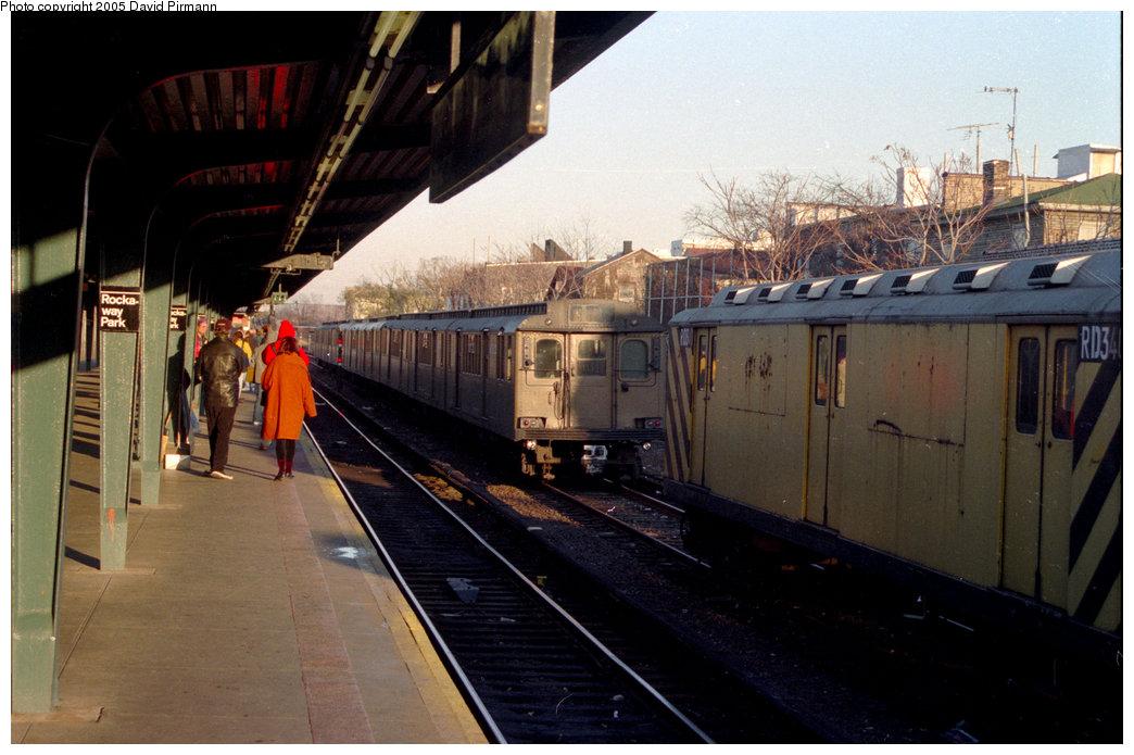 (184k, 1044x695)<br><b>Country:</b> United States<br><b>City:</b> New York<br><b>System:</b> New York City Transit<br><b>Location:</b> Rockaway Park Yard<br><b>Photo by:</b> David Pirmann<br><b>Date:</b> 12/10/1995<br><b>Notes:</b> Work train and D-type fantrip train at Rockaway Park.<br><b>Viewed (this week/total):</b> 0 / 1683
