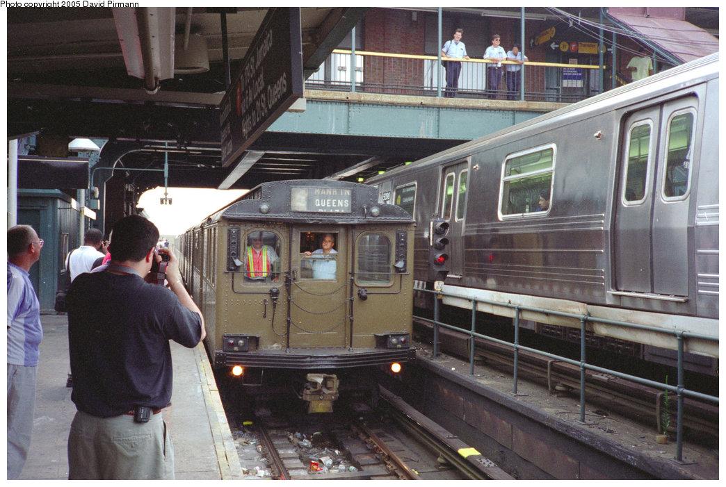 (221k, 1044x701)<br><b>Country:</b> United States<br><b>City:</b> New York<br><b>System:</b> New York City Transit<br><b>Location:</b> Coney Island/Stillwell Avenue<br><b>Route:</b> Fan Trip<br><b>Car:</b> BMT D-Type Triplex  <br><b>Photo by:</b> David Pirmann<br><b>Date:</b> 7/23/1995<br><b>Viewed (this week/total):</b> 0 / 4135