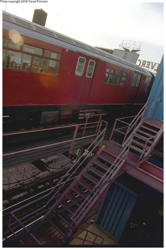 (161k, 694x1043)<br><b>Country:</b> United States<br><b>City:</b> New York<br><b>System:</b> New York City Transit<br><b>Line:</b> IRT Flushing Line<br><b>Location:</b> Queensborough Plaza <br><b>Route:</b> 7<br><b>Car:</b> R-36 World's Fair (St. Louis, 1963-64) 9600 <br><b>Photo by:</b> David Pirmann<br><b>Date:</b> 11/18/1995<br><b>Viewed (this week/total):</b> 2 / 2916