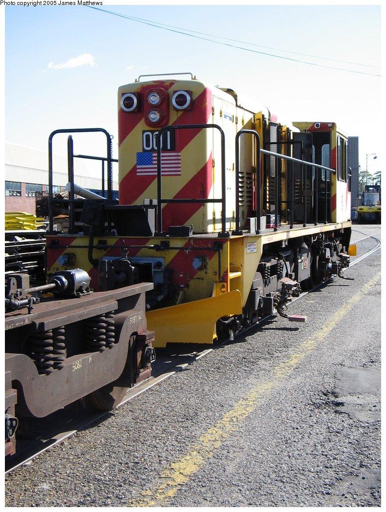 (223k, 788x1044)<br><b>Country:</b> United States<br><b>City:</b> New York<br><b>System:</b> New York City Transit<br><b>Location:</b> Westchester Yard<br><b>Car:</b> R-77E Locomotive  E01 <br><b>Photo by:</b> James Matthews<br><b>Date:</b> 11/2/2005<br><b>Viewed (this week/total):</b> 3 / 2843