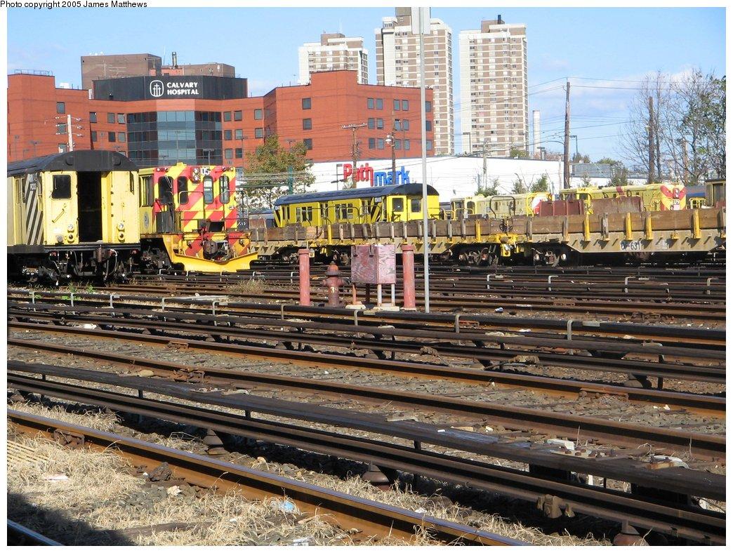 (248k, 1044x788)<br><b>Country:</b> United States<br><b>City:</b> New York<br><b>System:</b> New York City Transit<br><b>Location:</b> Westchester Yard<br><b>Photo by:</b> James Matthews<br><b>Date:</b> 11/2/2005<br><b>Notes:</b> Misc. work equipment in yard.<br><b>Viewed (this week/total):</b> 0 / 1760