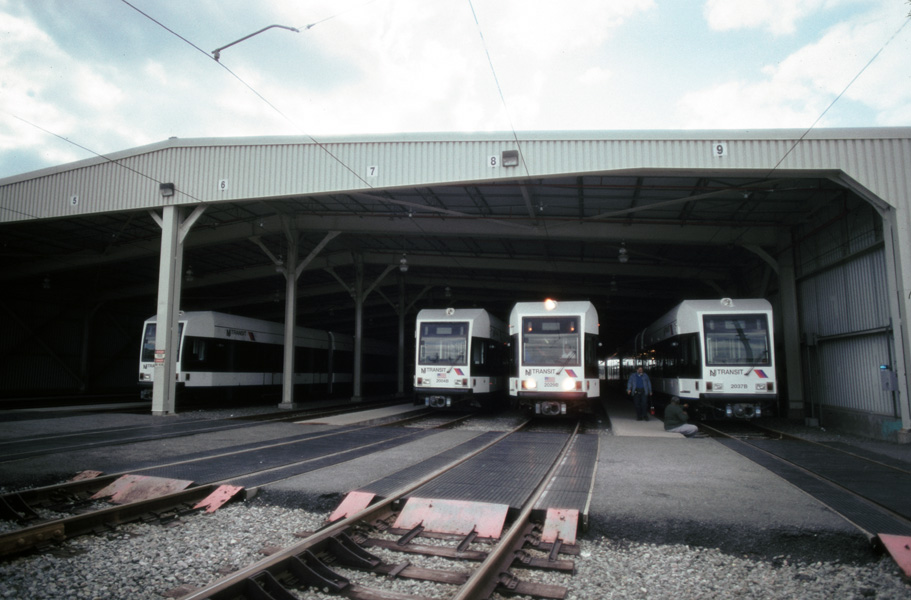 (159k, 911x600)<br><b>Country:</b> United States<br><b>City:</b> Jersey City, NJ<br><b>System:</b> Hudson Bergen Light Rail<br><b>Location:</b> HBLR Shops/Yard <br><b>Photo by:</b> Chris Leverett<br><b>Date:</b> 10/16/2004<br><b>Viewed (this week/total):</b> 1 / 1655