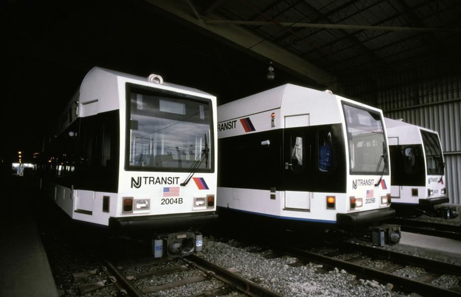 (149k, 931x600)<br><b>Country:</b> United States<br><b>City:</b> Jersey City, NJ<br><b>System:</b> Hudson Bergen Light Rail<br><b>Location:</b> HBLR Shops/Yard <br><b>Car:</b> NJT-HBLR LRV (Kinki-Sharyo, 1998-99)  2004/2029 <br><b>Photo by:</b> Chris Leverett<br><b>Date:</b> 10/16/2004<br><b>Viewed (this week/total):</b> 0 / 1268