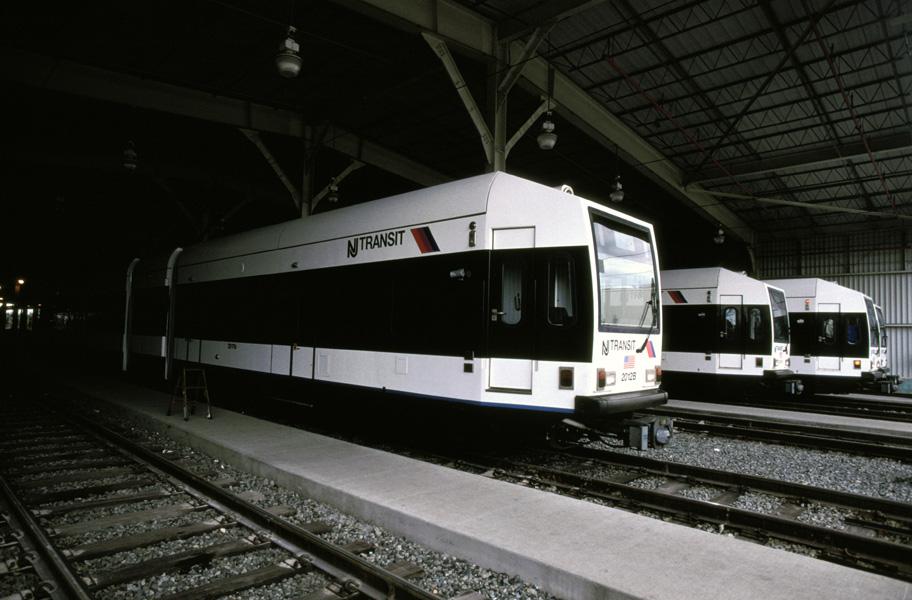 (165k, 912x600)<br><b>Country:</b> United States<br><b>City:</b> Jersey City, NJ<br><b>System:</b> Hudson Bergen Light Rail<br><b>Location:</b> HBLR Shops/Yard <br><b>Car:</b> NJT-HBLR LRV (Kinki-Sharyo, 1998-99)  2021 <br><b>Photo by:</b> Chris Leverett<br><b>Date:</b> 10/16/2004<br><b>Viewed (this week/total):</b> 1 / 1258