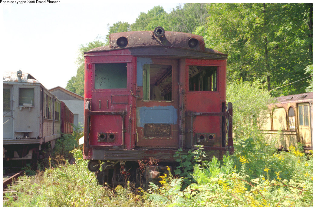 (266k, 1044x693)<br><b>Country:</b> United States<br><b>City:</b> Kingston, NY<br><b>System:</b> Trolley Museum of New York <br><b>Photo by:</b> David Pirmann<br><b>Date:</b> 9/14/1996<br><b>Notes:</b> Philadelphia Broad St. subway or Bridge Line car.<br><b>Viewed (this week/total):</b> 0 / 5264