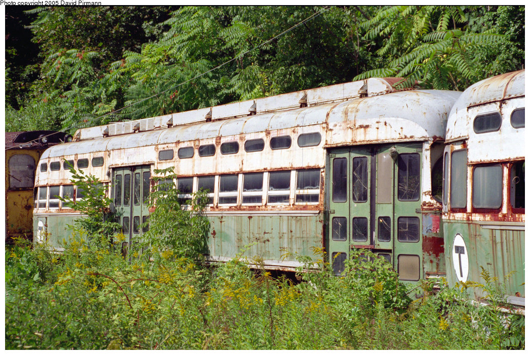 (353k, 1044x699)<br><b>Country:</b> United States<br><b>City:</b> Kingston, NY<br><b>System:</b> Trolley Museum of New York <br><b>Car:</b> MBTA/BSRy PCC Post-War All Electric (Pullman-Standard, 1946)  3214 <br><b>Photo by:</b> David Pirmann<br><b>Date:</b> 9/14/1996<br><b>Viewed (this week/total):</b> 0 / 3126