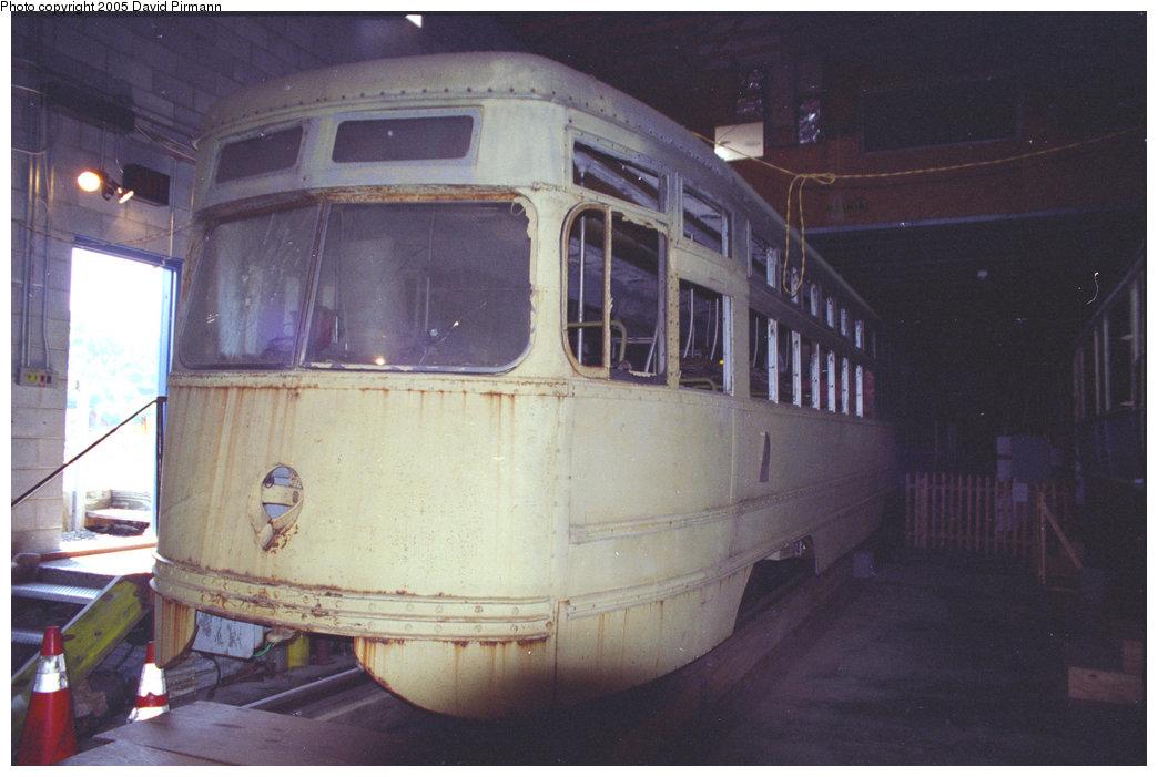 (162k, 1044x701)<br><b>Country:</b> United States<br><b>City:</b> Kingston, NY<br><b>System:</b> Trolley Museum of New York <br><b>Car:</b> Brooklyn & Queens Transit PCC (Clark Equipment, 1936)  1000 <br><b>Photo by:</b> David Pirmann<br><b>Date:</b> 9/14/1996<br><b>Viewed (this week/total):</b> 5 / 3143
