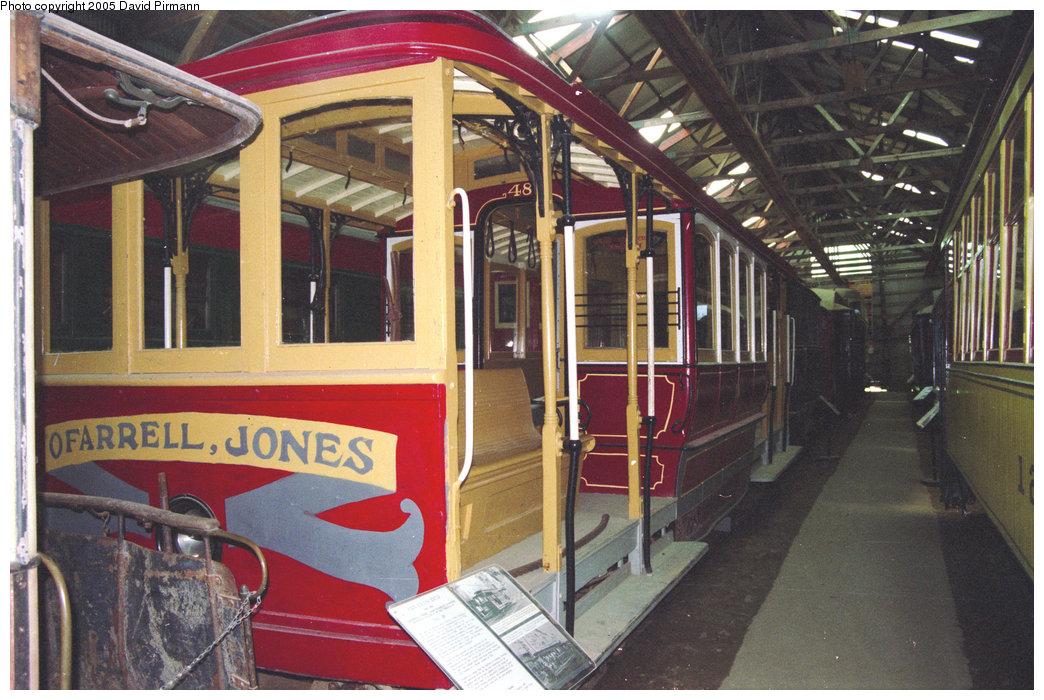 (235k, 1044x700)<br><b>Country:</b> United States<br><b>City:</b> Kennebunk, ME<br><b>System:</b> Seashore Trolley Museum <br><b>Car:</b> SF MUNI Cable Car (Double-Ended) 48 <br><b>Photo by:</b> David Pirmann<br><b>Date:</b> 5/25/1996<br><b>Viewed (this week/total):</b> 1 / 1098