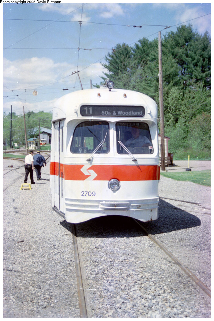 (220k, 699x1045)<br><b>Country:</b> United States<br><b>City:</b> Kennebunk, ME<br><b>System:</b> Seashore Trolley Museum <br><b>Car:</b> PTC/SEPTA Postwar All-electric PCC (St.Louis, 1947)  2709 <br><b>Photo by:</b> David Pirmann<br><b>Date:</b> 5/25/1996<br><b>Viewed (this week/total):</b> 0 / 1506