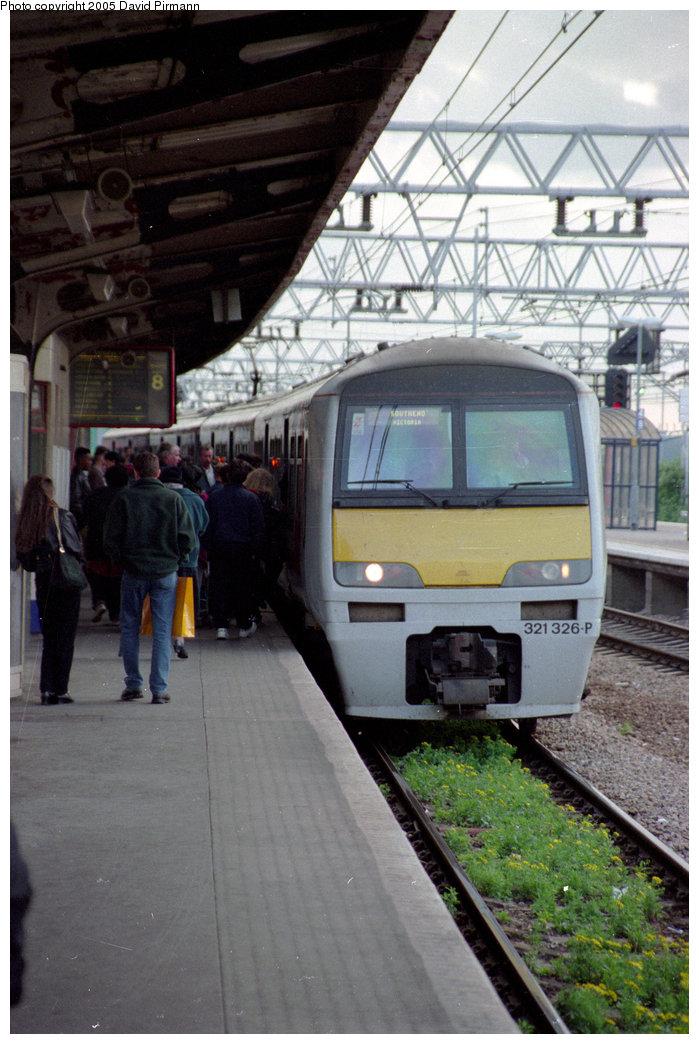(198k, 699x1044)<br><b>Country:</b> United Kingdom<br><b>City:</b> London<br><b>System:</b> London Main Line Rail<br><b>Location:</b> Stratford<br><b>Car:</b>  321326 <br><b>Photo by:</b> David Pirmann<br><b>Date:</b> 4/19/1997<br><b>Viewed (this week/total):</b> 1 / 2526