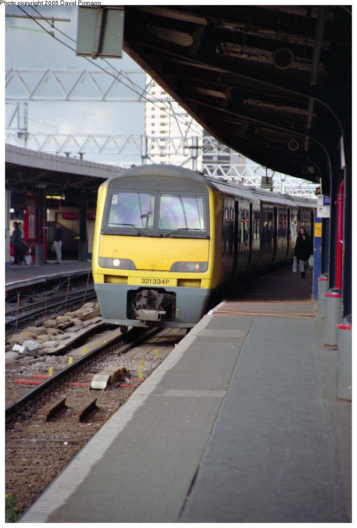 (190k, 706x1043)<br><b>Country:</b> United Kingdom<br><b>City:</b> London<br><b>System:</b> London Main Line Rail<br><b>Location:</b> Stratford<br><b>Car:</b>  321334 <br><b>Photo by:</b> David Pirmann<br><b>Date:</b> 4/19/1997<br><b>Viewed (this week/total):</b> 0 / 2406