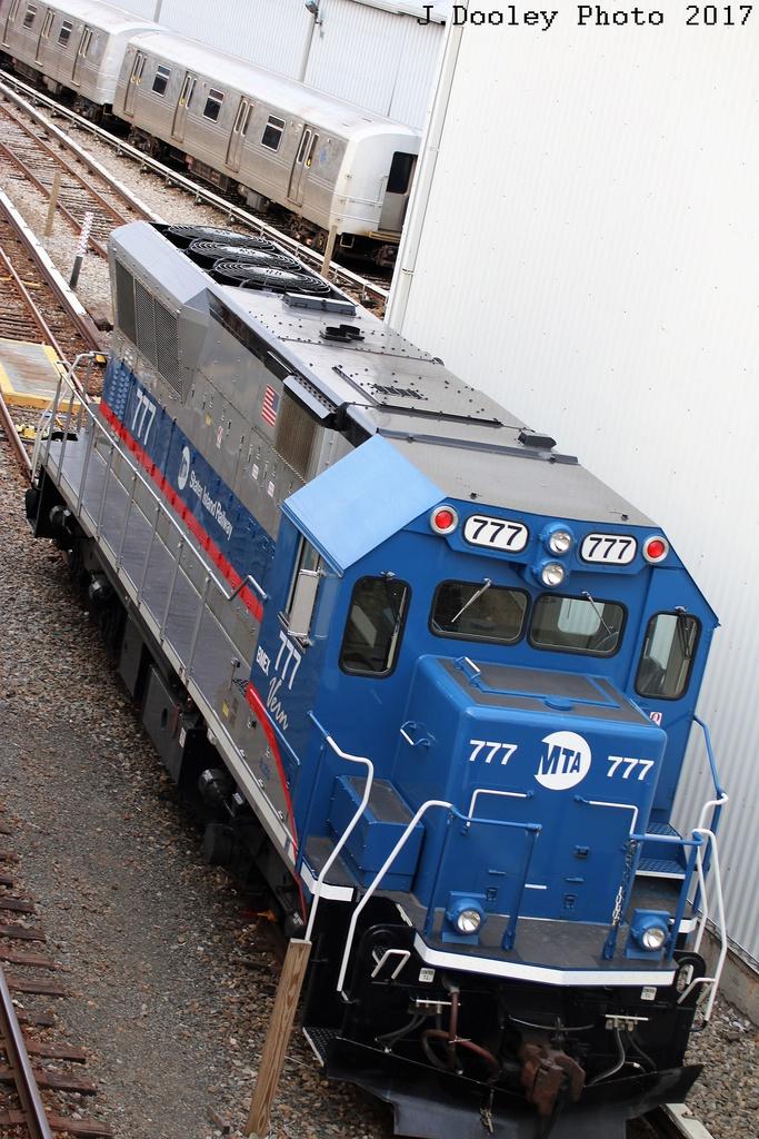 (340k, 683x1024)<br><b>Country:</b> United States<br><b>City:</b> New York<br><b>System:</b> New York City Transit<br><b>Line:</b> SIRT<br><b>Location:</b> Clifton Yard/Shops <br><b>Car:</b> SIRT Brookville BL-20G 777 <br><b>Photo by:</b> John Dooley<br><b>Date:</b> 2/3/2017<br><b>Viewed (this week/total):</b> 5 / 1002