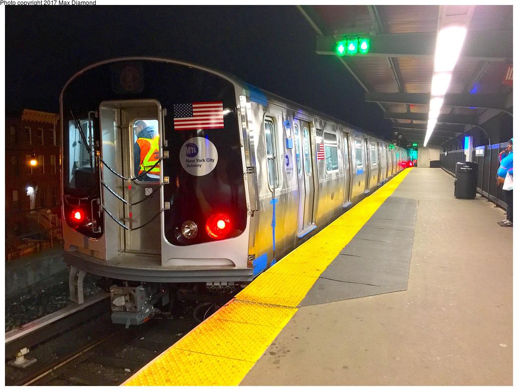 (383k, 1044x788)<br><b>Country:</b> United States<br><b>City:</b> New York<br><b>System:</b> New York City Transit<br><b>Line:</b> BMT Franklin Shuttle<br><b>Location:</b> Franklin Avenue<br><b>Route:</b> Testing<br><b>Car:</b> R-179 (Bombardier, 2016-2019) 3010 <br><b>Photo by:</b> Max Diamond<br><b>Date:</b> 11/24/2016<br><b>Viewed (this week/total):</b> 4 / 3033