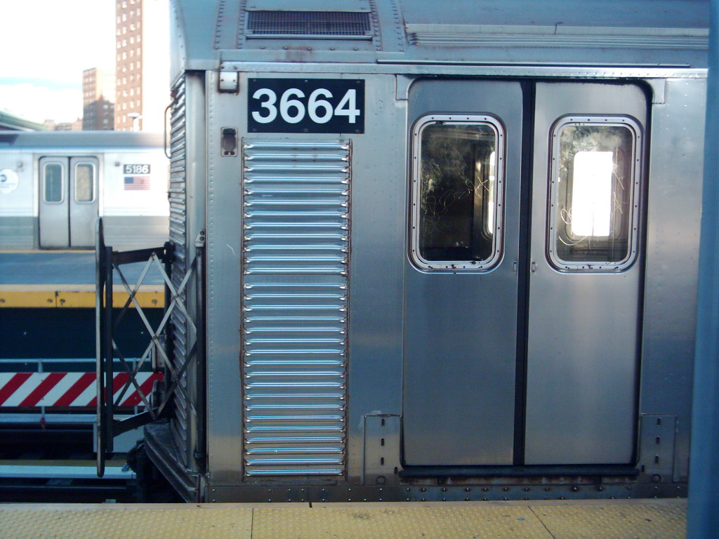 (214k, 1024x768)<br><b>Country:</b> United States<br><b>City:</b> New York<br><b>System:</b> New York City Transit<br><b>Location:</b> Coney Island/Stillwell Avenue<br><b>Route:</b> F<br><b>Car:</b> R-32 (Budd, 1964)  3664 <br><b>Photo by:</b> Michael Hodurski<br><b>Date:</b> 11/11/2005<br><b>Viewed (this week/total):</b> 4 / 3181