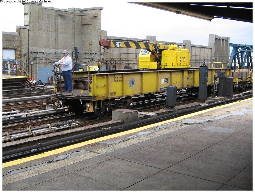 (187k, 1044x788)<br><b>Country:</b> United States<br><b>City:</b> New York<br><b>System:</b> New York City Transit<br><b>Line:</b> IND Crosstown Line<br><b>Location:</b> 4th Avenue <br><b>Route:</b> Work Service<br><b>Car:</b> Crane Car 253 <br><b>Photo by:</b> James Matthews<br><b>Date:</b> 11/16/2005<br><b>Viewed (this week/total):</b> 1 / 2440