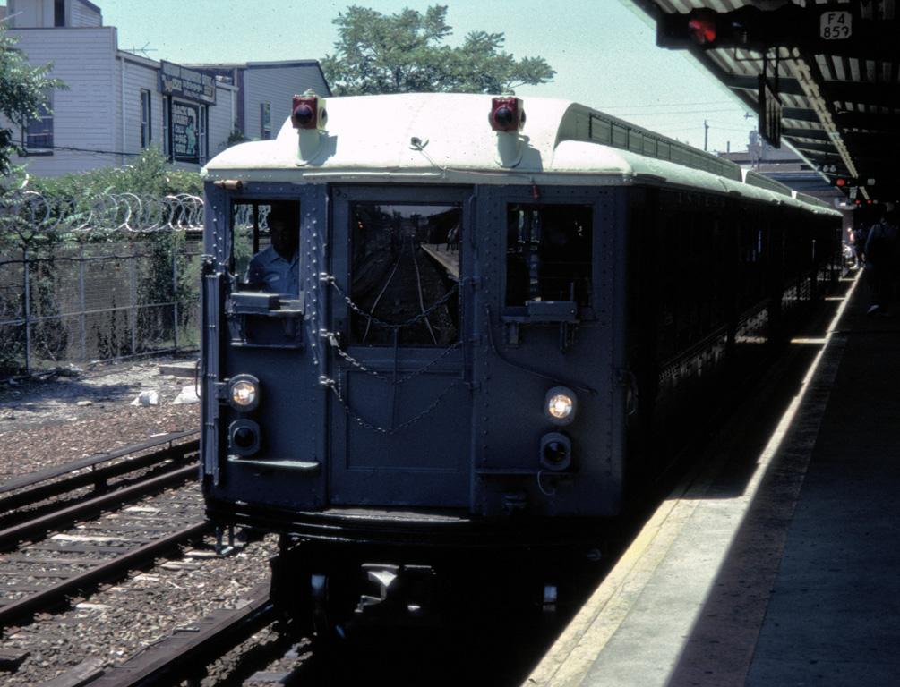 (273k, 1005x768)<br><b>Country:</b> United States<br><b>City:</b> New York<br><b>System:</b> New York City Transit<br><b>Line:</b> IND Rockaway<br><b>Location:</b> Rockaway Park/Beach 116th Street <br><b>Route:</b> Fan Trip<br><b>Car:</b> Low-V (Museum Train) 5443 <br><b>Photo by:</b> Chris Leverett<br><b>Date:</b> 7/6/1996<br><b>Viewed (this week/total):</b> 1 / 1962