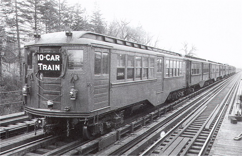 (277k, 1024x659)<br><b>Country:</b> United States<br><b>City:</b> New York<br><b>System:</b> New York City Transit<br><b>Location:</b> Bronx Park Spur<br><b>Car:</b> Hi-V 3998 <br><b>Photo by:</b> Ed Watson/Arthur Lonto Collection<br><b>Collection of:</b> Joe Testagrose<br><b>Date:</b> 1/23/1911<br><b>Viewed (this week/total):</b> 0 / 3874