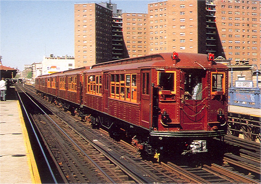 (285k, 1024x722)<br><b>Country:</b> United States<br><b>City:</b> New York<br><b>System:</b> New York City Transit<br><b>Line:</b> IRT West Side Line<br><b>Location:</b> 125th Street <br><b>Car:</b> Low-V (Museum Train) 5443 <br><b>Photo by:</b> Doug Grotjahn<br><b>Collection of:</b> Joe Testagrose<br><b>Date:</b> 1979<br><b>Viewed (this week/total):</b> 4 / 2071