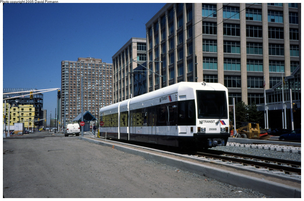 (203k, 1044x692)<br><b>Country:</b> United States<br><b>City:</b> Jersey City, NJ<br><b>System:</b> Hudson Bergen Light Rail<br><b>Location:</b> Harborside <br><b>Car:</b> NJT-HBLR LRV (Kinki-Sharyo, 1998-99)  2008 <br><b>Photo by:</b> David Pirmann<br><b>Date:</b> 4/29/2000<br><b>Viewed (this week/total):</b> 0 / 1507