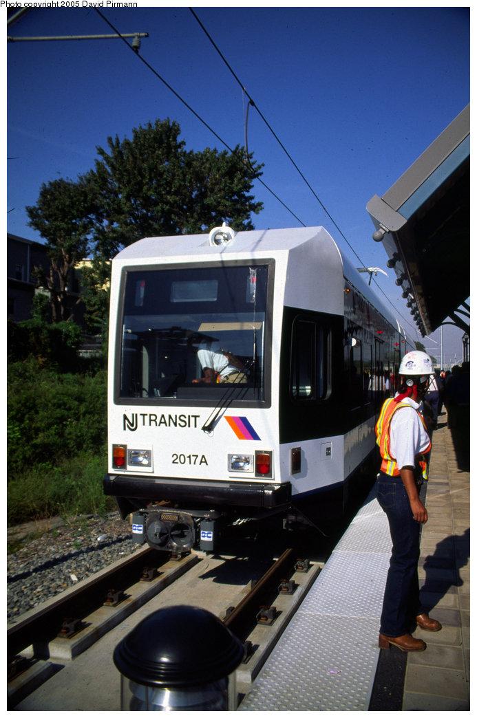 (187k, 693x1044)<br><b>Country:</b> United States<br><b>City:</b> Jersey City, NJ<br><b>System:</b> Hudson Bergen Light Rail<br><b>Location:</b> Danforth Avenue <br><b>Car:</b> NJT-HBLR LRV (Kinki-Sharyo, 1998-99)  2017 <br><b>Photo by:</b> David Pirmann<br><b>Date:</b> 10/2/1999<br><b>Viewed (this week/total):</b> 0 / 2138