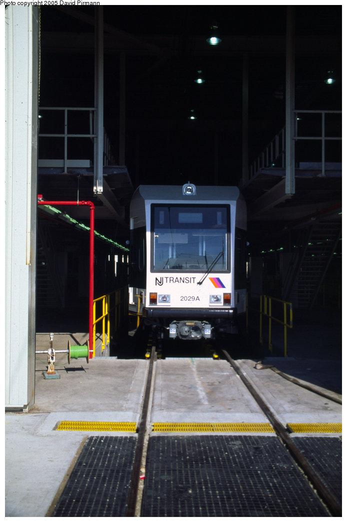 (138k, 694x1043)<br><b>Country:</b> United States<br><b>City:</b> Jersey City, NJ<br><b>System:</b> Hudson Bergen Light Rail<br><b>Location:</b> HBLR Shops/Yard <br><b>Car:</b> NJT-HBLR LRV (Kinki-Sharyo, 1998-99)  2029 <br><b>Photo by:</b> David Pirmann<br><b>Date:</b> 10/2/1999<br><b>Viewed (this week/total):</b> 0 / 1696