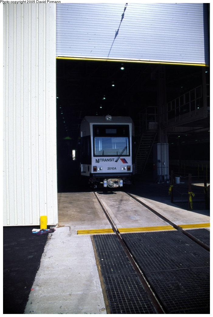 (160k, 701x1044)<br><b>Country:</b> United States<br><b>City:</b> Jersey City, NJ<br><b>System:</b> Hudson Bergen Light Rail<br><b>Location:</b> HBLR Shops/Yard <br><b>Car:</b> NJT-HBLR LRV (Kinki-Sharyo, 1998-99)  2010 <br><b>Photo by:</b> David Pirmann<br><b>Date:</b> 10/2/1999<br><b>Viewed (this week/total):</b> 0 / 1571