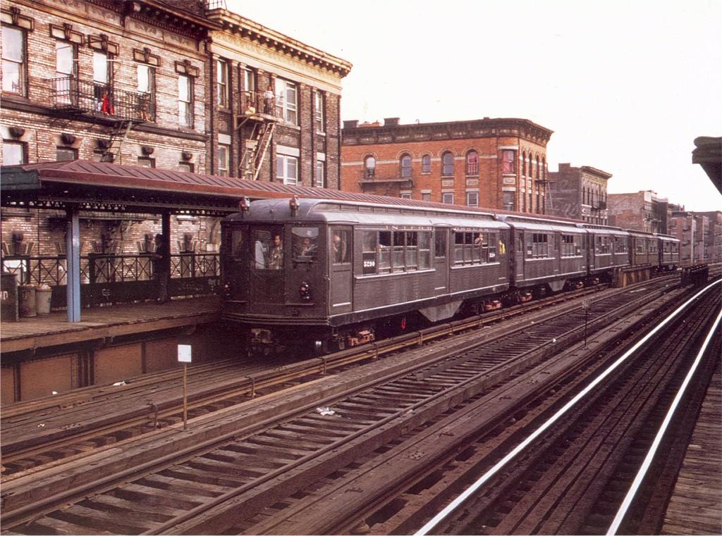 (275k, 1024x761)<br><b>Country:</b> United States<br><b>City:</b> New York<br><b>System:</b> New York City Transit<br><b>Line:</b> 3rd Avenue El<br><b>Location:</b> Claremont Parkway <br><b>Route:</b> Fan Trip<br><b>Car:</b> Low-V (Museum Train) 5290 <br><b>Photo by:</b> Doug Grotjahn<br><b>Collection of:</b> Joe Testagrose<br><b>Date:</b> 4/29/1973<br><b>Viewed (this week/total):</b> 3 / 3708