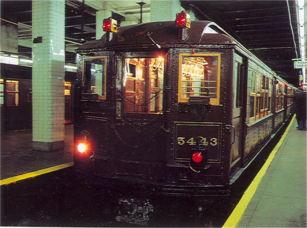 (225k, 1024x762)<br><b>Country:</b> United States<br><b>City:</b> New York<br><b>System:</b> New York City Transit<br><b>Line:</b> BMT Nassau Street/Jamaica Line<br><b>Location:</b> Chambers Street <br><b>Route:</b> Fan Trip<br><b>Car:</b> Low-V (Museum Train) 5443 <br><b>Photo by:</b> Doug Grotjahn<br><b>Collection of:</b> Joe Testagrose<br><b>Date:</b> 3/23/1979<br><b>Viewed (this week/total):</b> 0 / 3337