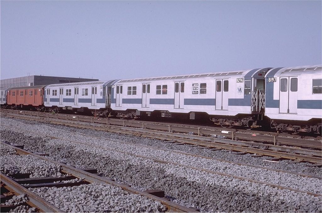 (265k, 1024x679)<br><b>Country:</b> United States<br><b>City:</b> New York<br><b>System:</b> New York City Transit<br><b>Location:</b> Coney Island Yard<br><b>Car:</b> R-30 (St. Louis, 1961) 8296 <br><b>Photo by:</b> Steve Zabel<br><b>Collection of:</b> Joe Testagrose<br><b>Date:</b> 7/15/1972<br><b>Viewed (this week/total):</b> 1 / 2397