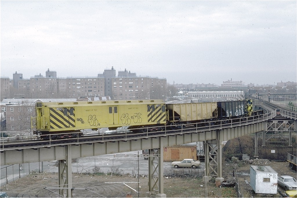 (236k, 1024x684)<br><b>Country:</b> United States<br><b>City:</b> New York<br><b>System:</b> New York City Transit<br><b>Line:</b> BMT West End Line<br><b>Location:</b> Bay 50th Street <br><b>Route:</b> Work Service<br><b>Car:</b> R-71 Rider Car (R-17/R-21/R-22 Rebuilds)  RD321 (ex-5844)<br><b>Photo by:</b> Steve Zabel<br><b>Collection of:</b> Joe Testagrose<br><b>Date:</b> 12/3/1981<br><b>Viewed (this week/total):</b> 2 / 3167