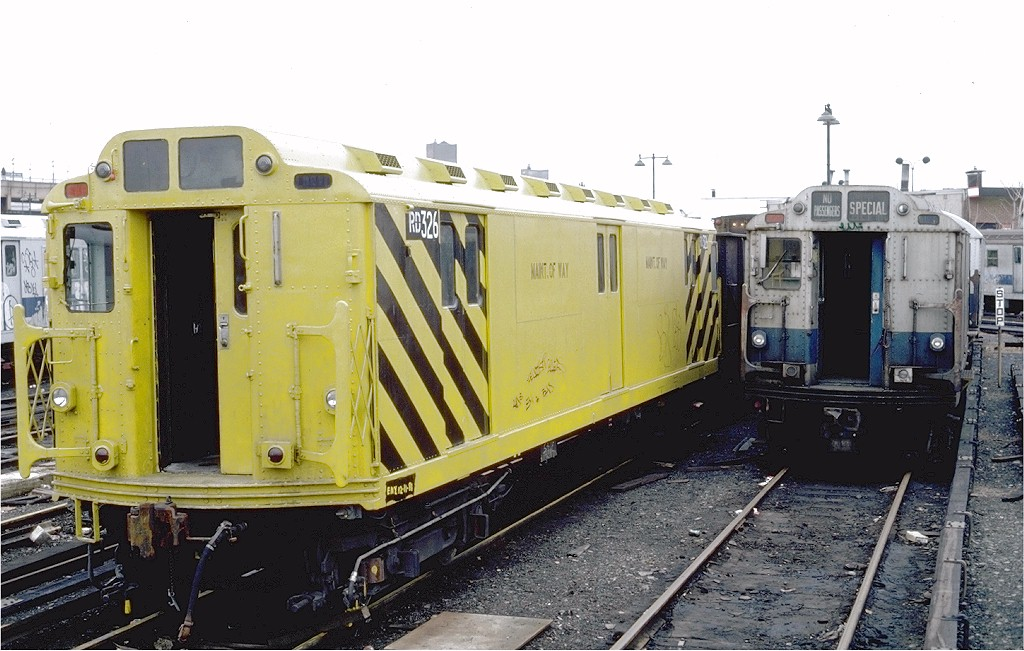 (189k, 1024x651)<br><b>Country:</b> United States<br><b>City:</b> New York<br><b>System:</b> New York City Transit<br><b>Location:</b> East New York Yard/Shops<br><b>Car:</b> R-71 Rider Car (R-17/R-21/R-22 Rebuilds)  RD326 (ex-5831)<br><b>Photo by:</b> Steve Zabel<br><b>Collection of:</b> Joe Testagrose<br><b>Date:</b> 12/15/1981<br><b>Viewed (this week/total):</b> 1 / 2302