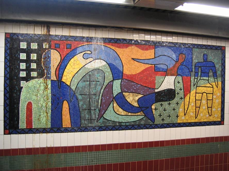 (114k, 888x664)<br><b>Country:</b> United States<br><b>City:</b> New York<br><b>System:</b> New York City Transit<br><b>Line:</b> IRT White Plains Road Line<br><b>Location:</b> 3rd Avenue/149th Street <br><b>Photo by:</b> Robbie Rosenfeld<br><b>Date:</b> 11/22/2005<br><b>Artwork:</b> <i>Una Raza, Un Mundo, Universo (One Race, One World, One Universe)</i>, Jose Ortega (1996).<br><b>Viewed (this week/total):</b> 0 / 1462