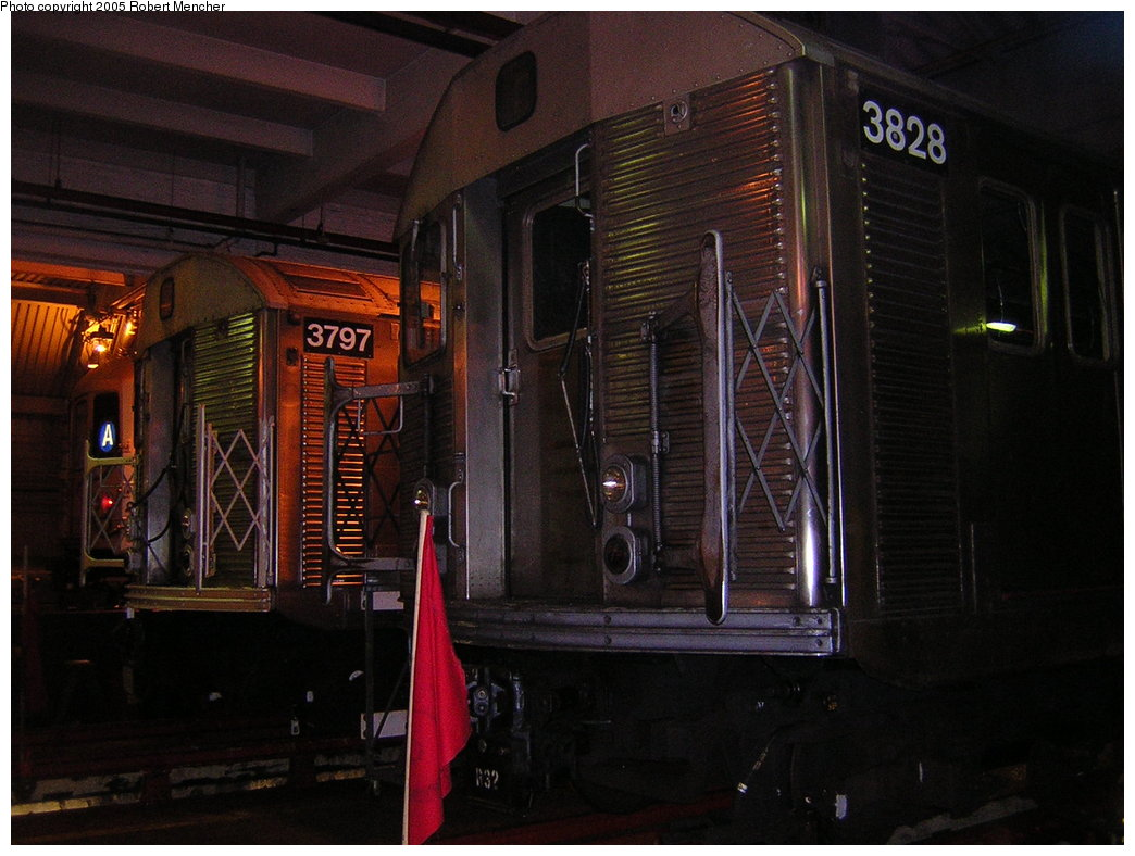 (193k, 1044x788)<br><b>Country:</b> United States<br><b>City:</b> New York<br><b>System:</b> New York City Transit<br><b>Location:</b> Pitkin Yard/Shops<br><b>Car:</b> R-32 (Budd, 1964)  3797/3828 <br><b>Photo by:</b> Robert Mencher<br><b>Date:</b> 12/8/2005<br><b>Viewed (this week/total):</b> 3 / 3331