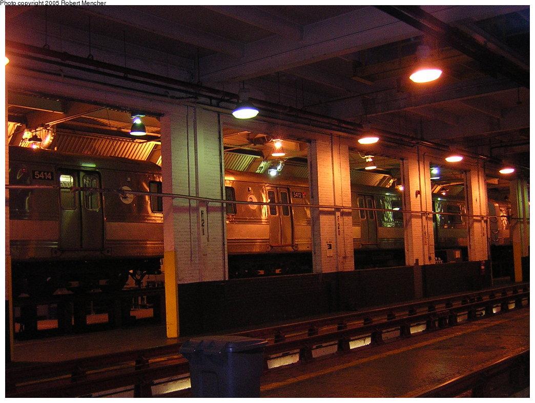 (216k, 1044x788)<br><b>Country:</b> United States<br><b>City:</b> New York<br><b>System:</b> New York City Transit<br><b>Location:</b> Pitkin Yard/Shops<br><b>Car:</b> R-44 (St. Louis, 1971-73) 5414 <br><b>Photo by:</b> Robert Mencher<br><b>Date:</b> 12/8/2005<br><b>Viewed (this week/total):</b> 0 / 3629