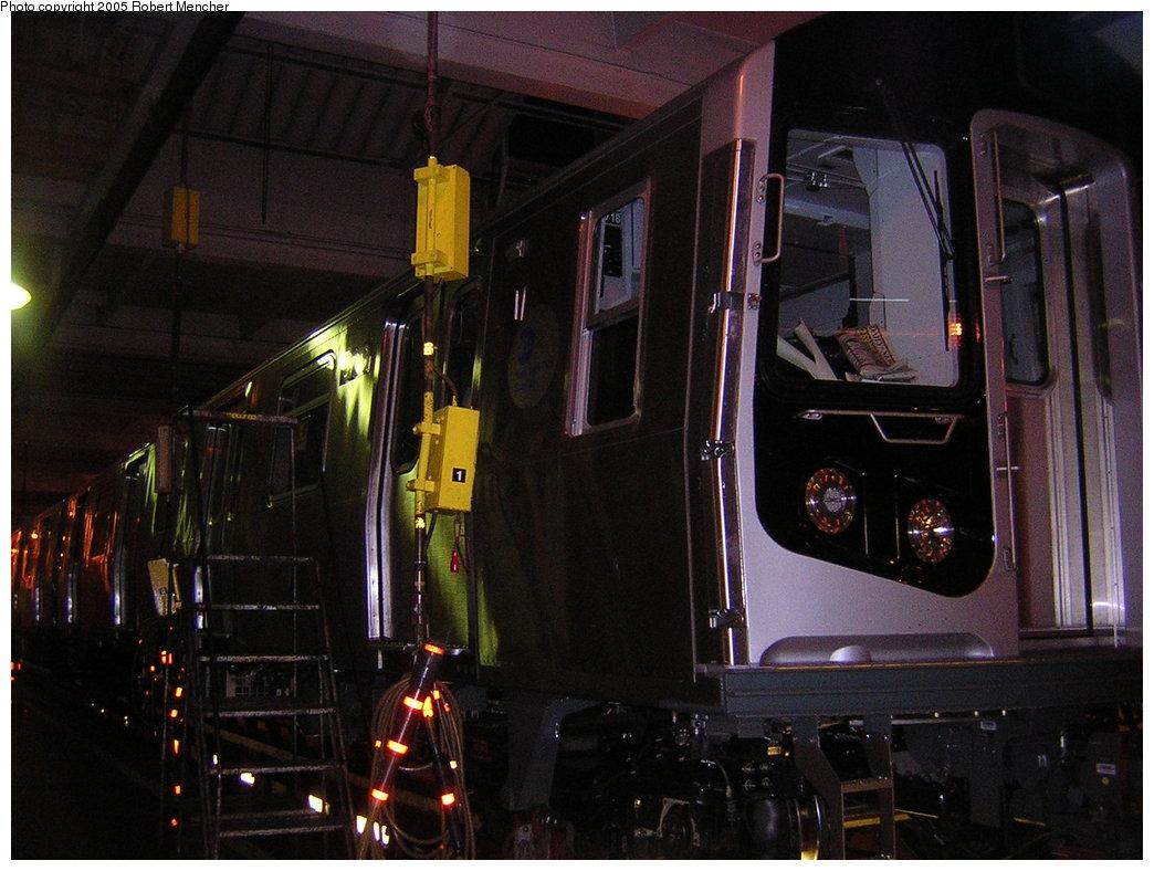 (196k, 1044x788)<br><b>Country:</b> United States<br><b>City:</b> New York<br><b>System:</b> New York City Transit<br><b>Location:</b> Pitkin Yard/Shops<br><b>Car:</b> R-160B (Kawasaki, 2005-2008)  8717 <br><b>Photo by:</b> Robert Mencher<br><b>Date:</b> 12/8/2005<br><b>Viewed (this week/total):</b> 0 / 3554